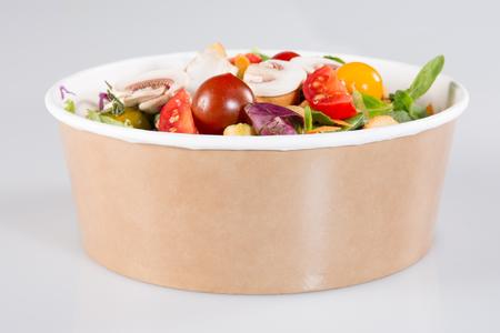 Take away salad box ready for vegetarian