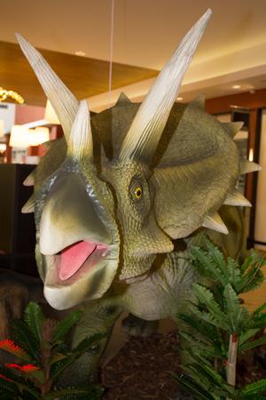triceratops horridus plastic toy Dinosaur herbivores In Late Cretaceous