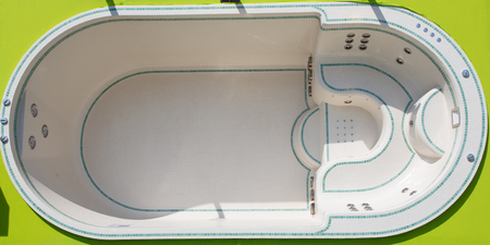 large spa top view hot tub luxury bath with mosaic