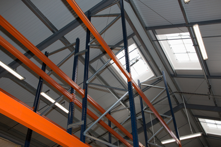 Industrial Warehouse Racking System Heave Stock Photo
