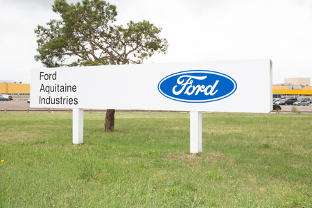 Blanquefort Bordeaux, Aquitaine France - 06 14 2018 : American car manufacturer Ford wants to sell its gearbox factory near Bordeaux Is Ford gradually leaving Europe