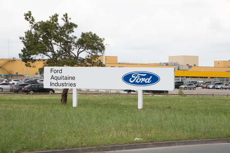 Blanquefort Bordeaux, Aquitaine France - 06 14 2018 : Ford Factory car gearbox production transmission plant near Bordeaux french