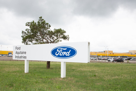 Blanquefort Bordeaux, Aquitaine France - 06 14 2018 : Ford plans to close its Blanquefort gearbox plant in southwestern France if no buyer can be found for the site which employs 900 workers Editorial