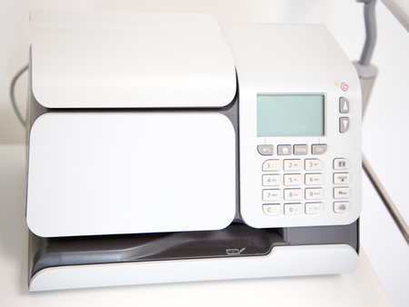 machine for weighing and franking mail Stockfoto