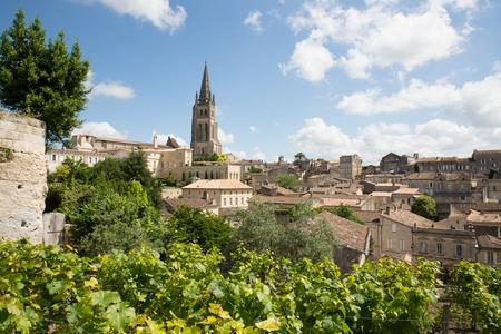 main red wine production areas of Bordeaux region Saint Emilion village Stock Photo