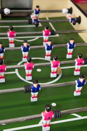 detail of a foosball game concept of championship Stock Photo