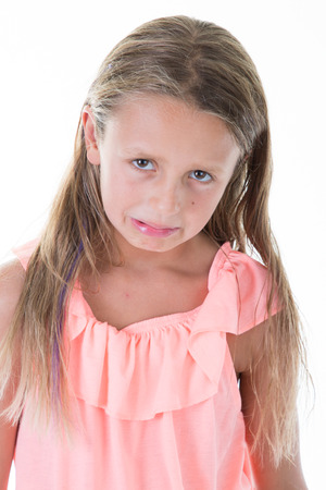 child pretty little girl angry face