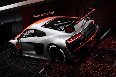 Paris, Ile de France  France - October 07 2018 : Mondial Paris Motor Show Audi R8 LMS GT3
