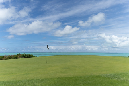 Beautiful view of the golf course to the sea Imagens
