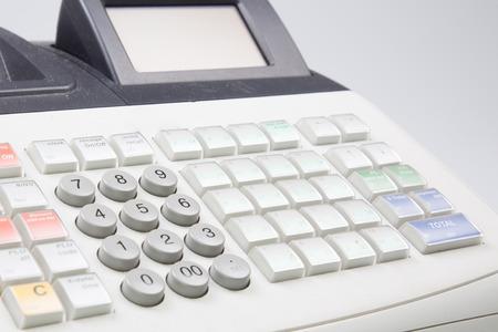 Close up detail du clavier de caisse enregistreuse