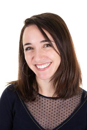 attractive business woman posing smiling friendly happy beauty Фото со стока
