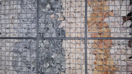 Breakstone background Road gravel texture Crushed Piles of limestone rocks Break stones to sale for construction site Foto de archivo