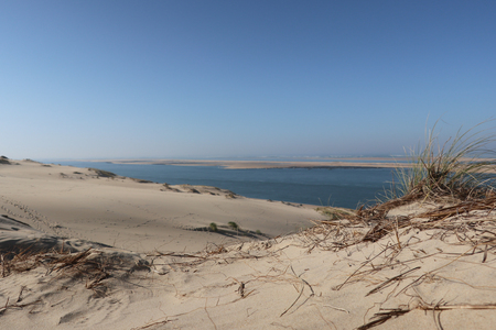 Dune of Pilat in pyla France. the largest sandy desert in Europe