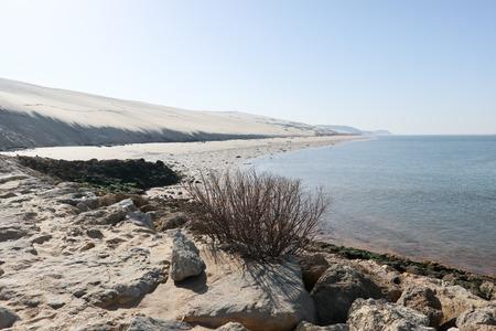 La dune du Pilat, au sud du bassin d'Arcachon en Gironde et en région Aquitaine, est la plus haute dune d'Europe Pyla Banque d'images