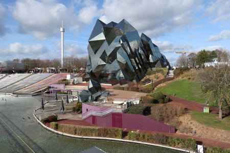 Poitiers Futuroscope, Nouvelle Aquitaine  France - 02 03 2019 : french dynamic park multimedia