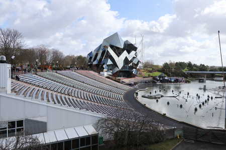 Poitiers Futuroscope, Nouvelle Aquitaine  France - 02 03 2019 : Futuroscope offers the director a whole new level of artistic expression for his first leisure park attraction