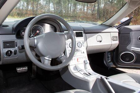 Modern auto-interieur in close-up foto