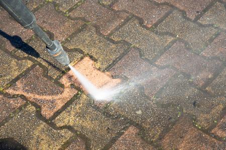 high pressure washing of floor slabs Imagens - 120326306