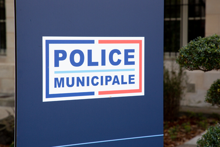 police municipale means in french Municipal police sign of local police under authority of city Mayor in France