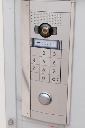 Intercom doorbell Keypad access code Security keypad system protected