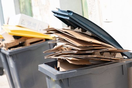 Recycling empty boxes paper waste separation