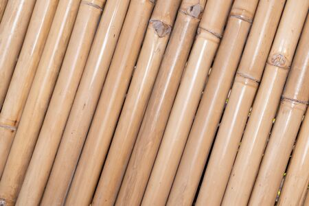 Bamboo mat fence inclined background