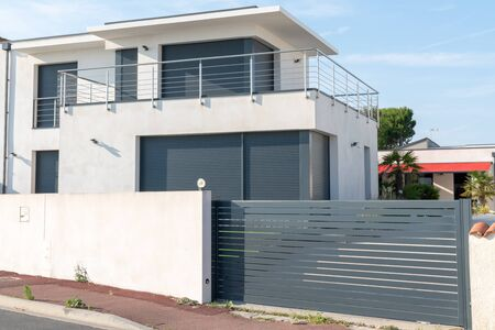 Geometric style villa modern house