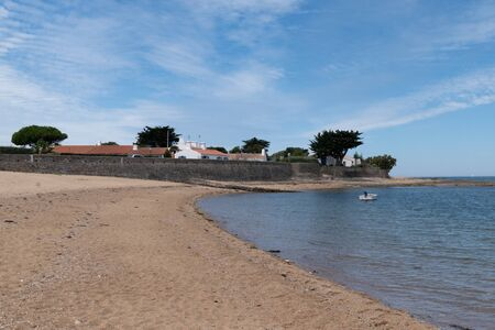 landscape ocean Atlantic coast from Noirmoutier French island Stock Photo