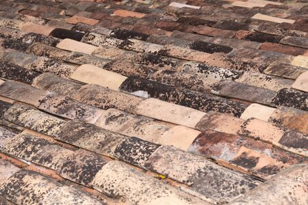Typical french roof tiles for background and texture 写真素材