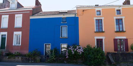 Trentemoult village in France with colorful houses Foto de archivo - 129253296