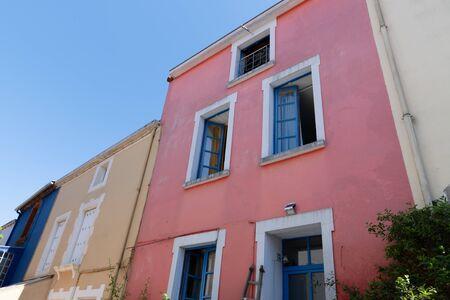 trentemoult Rezé colorful houses near Nantes fishing village France