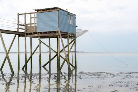 fishing hut on stilts Île dAix Charente maritime
