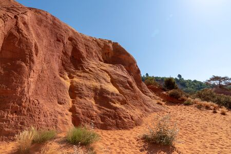French Colorado of Rustrel in Luberon Roussillon in France