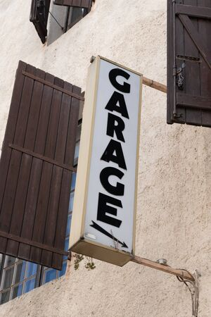 old ancient vintage Garage Sign
