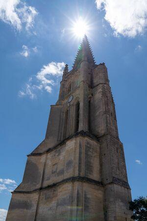 church view of Saint Emilion village in Bordeaux region