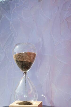 hourglass blending of the sands at wedding ceremony