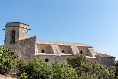 Oppède le Vieux church Notre-Dame-d'Alidon in Provence Luberon France