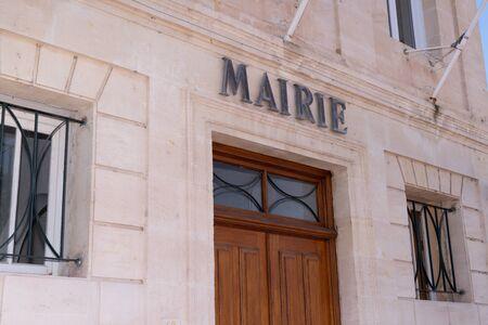 Ayuntamiento en la aldea de Margaux en Medoc Francia