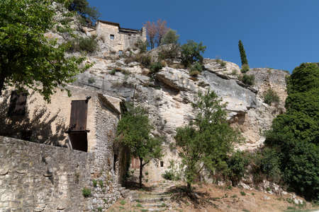 french Oppède le vieux village in Luberon ancient medieval city in southeast France Editorial