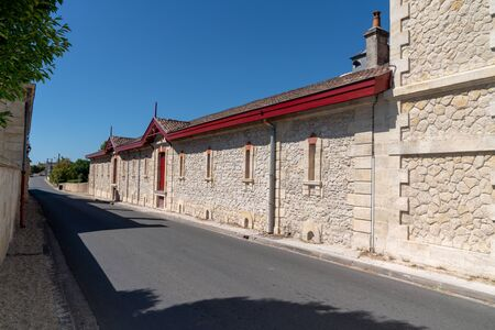 building vineyard in a street of Margaux in the Médoc Reklamní fotografie