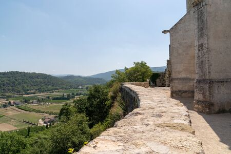 medieval hill top village of Menerbes in the Luberon Provence France