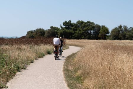 bike ride in the countryside in Charente maritime France