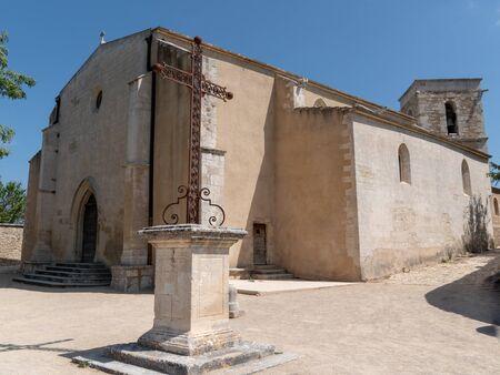 medieval church of Saint-Luc Ménerbes in Vaucluse Provence France