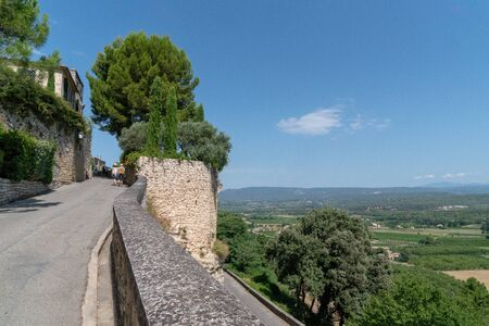 view of hill village of Menerbes Luberon Provence France