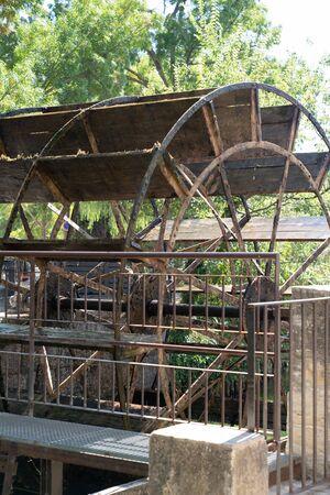 Water wheel in lIsle sur la Sorgue Luberon in France