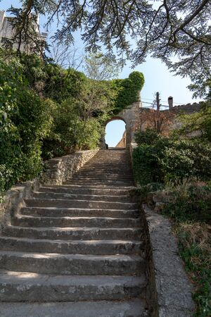stairs stone pathway of Bonnieux small village in Provence France Reklamní fotografie