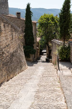 village ancient Bonnieux in department Vaucluse in Provence France