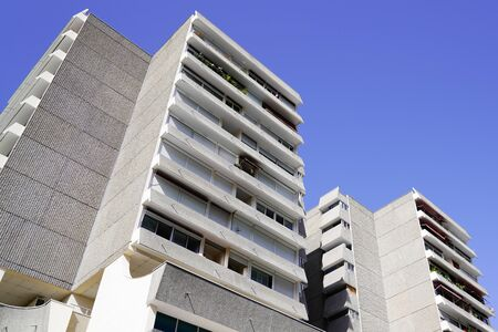 New modern apartment building exterior Contemporary Architecture Office In The City in blue sky Reklamní fotografie