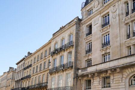 Old and stylish hausmann building facades in Bordeaux Reklamní fotografie