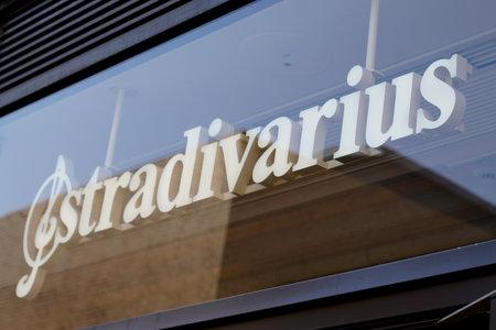Bordeaux , Aquitaine / France - 09 18 2019 : shop sign Stradivarius clothing brand store